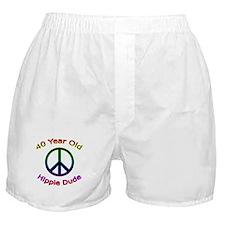 Hippie Dude 40th Birthday Boxer Shorts