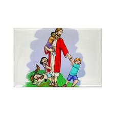 Jesus & The Children Rectangle Magnet