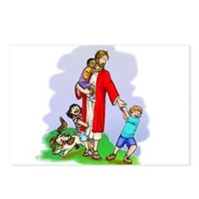 Jesus & The Children Postcards (Package of 8)