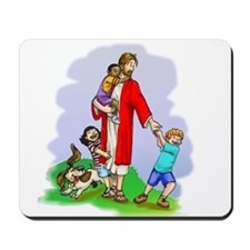 Jesus & The Children Mousepad