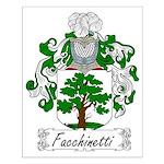 Facchinetti Family Crest Small Poster