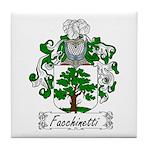 Facchinetti Family Crest Tile Coaster