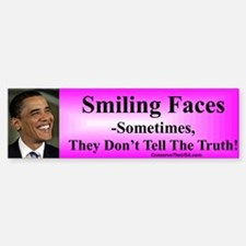 """Smiling Faces"" Bumper Bumper Bumper Sticker"