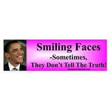 """Smiling Faces"" Bumper Bumper Sticker"