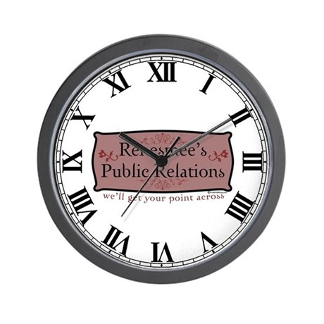 Renesmee's Public Relations Wall Clock