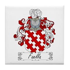 Faella Family Crest Tile Coaster
