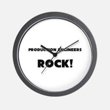Production Engineers ROCK Wall Clock