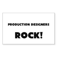 Production Designers ROCK Rectangle Decal