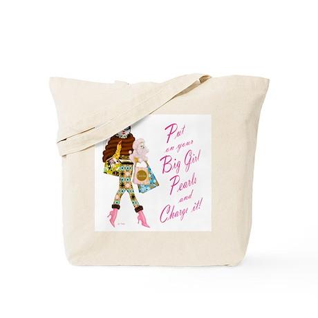 Kitty O. Big Girl Pearls Tote Bag