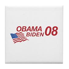 Obama/Biden 08 Tile Coaster