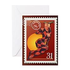 Halloween Jester Stamp Greeting Card