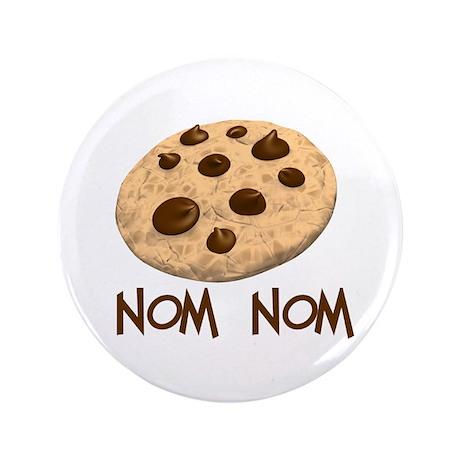 """nom nom. Cookie 3.5"""" Button"""