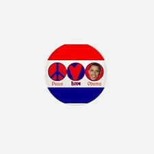 Peace, Love, Obama Mini Button