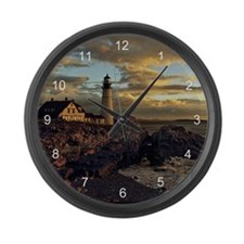 Portland Head Lighthouse Large Wall Clock