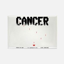 Game Over Cancer Rectangle Magnet