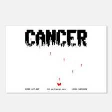 Game Over Cancer Postcards (Package of 8)