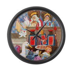 TRIAL OF THE KNAVE OF HEARTS Large Wall Clock
