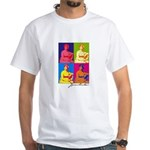Jane Austen Pop Art White T-Shirt