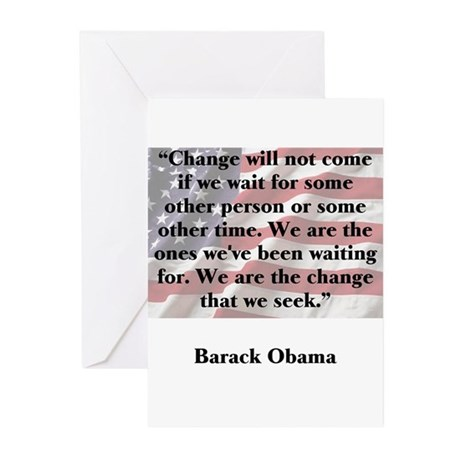 Change will not come Greeting Cards (Pk of 10)