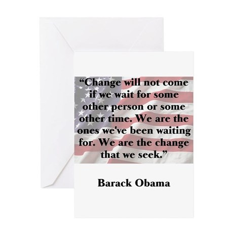 Change will not come Greeting Card