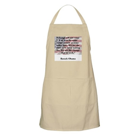 Change will not come BBQ Apron
