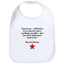 Obama's quote Bib