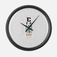Cute Ophthalmology Large Wall Clock