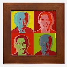 Obama Biden Framed Tile