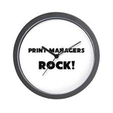 Print Managers ROCK Wall Clock