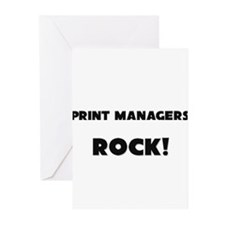 Print Managers ROCK Greeting Cards (Pk of 10)