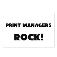 Print Managers ROCK Postcards (Package of 8)