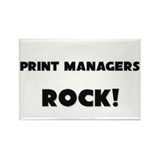 Print Managers ROCK Rectangle Magnet