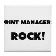 Print Managers ROCK Tile Coaster