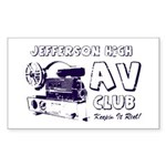 AV Club - Keepin It Reel! Rectangle Sticker