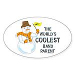 Coolest Parent Oval Sticker (10 pk)
