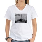 The Rosebud Women's V-Neck T-Shirt