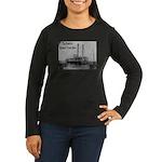 The Rosebud Women's Long Sleeve Dark T-Shirt
