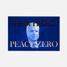 War Hero, Peace Zero Rectangle Magnet