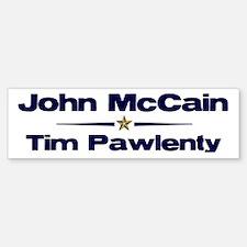 McCain Pawlenty Bumper Bumper Bumper Sticker