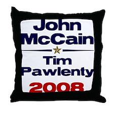 McCain Pawlenty Throw Pillow