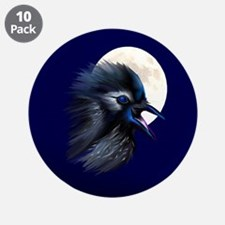 "Manic Raven with Moon 3.5"" Button (10 pack)"