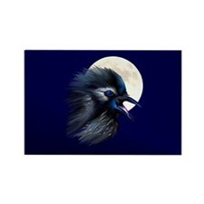 Manic Raven with Moon Rectangle Magnet