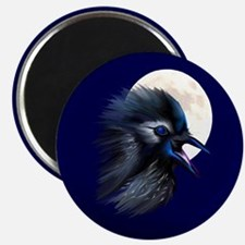 """Manic Raven with Moon 2.25"""" Magnet (10 pack)"""