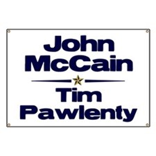 McCain Pawlenty Banner
