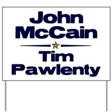McCain Pawlenty Yard Sign