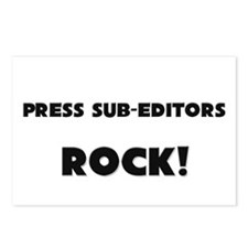 Press Sub-Editors ROCK Postcards (Package of 8)