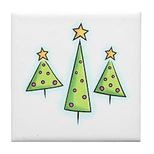 Whimsical Trees Tile Coaster