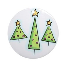 Whimsical Trees Ornament (Round)
