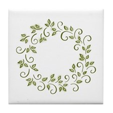 Leafy Wreath Tile Coaster