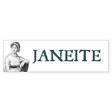 Jane Austen JANEITE Bumper Bumper Sticker